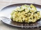 Рецепта Ризото с бяло вино, сирене пармезан и тиквички